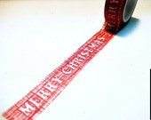 Merry Christmas Washi Tape / Red and White / Decorative Tape / Xmas Washi Tape