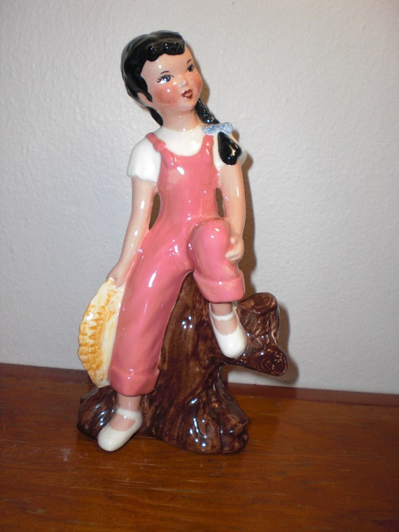 Duncan Ceramic Studios, Peggy, August Figurine 1949 Fresno California