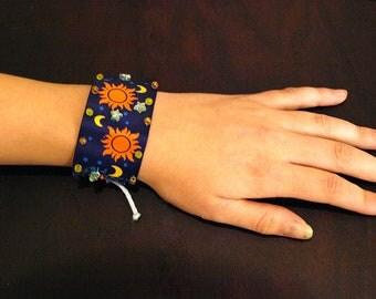 Sun and Moon Ribbon Bracelet