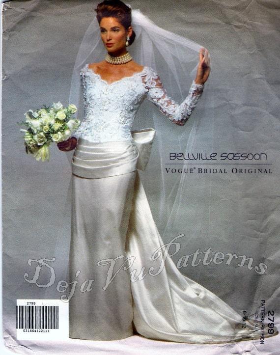 Vogue 2799 Retro 1990s Bellville Sassoon Wedding By