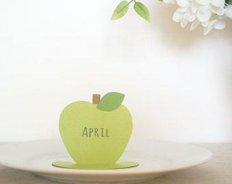 Simple Elegant Apple place cards Set of 24