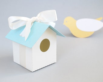 Bird House Favor Box Set of 12