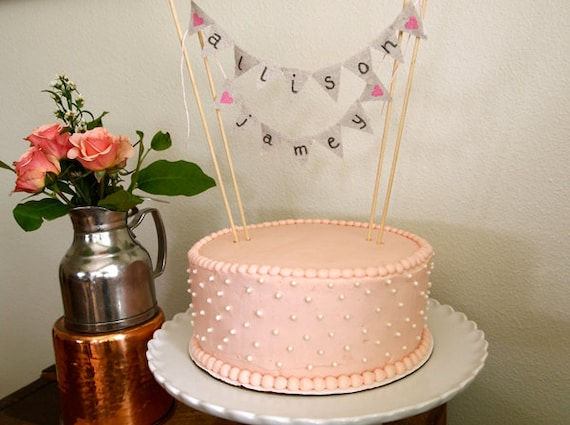 bunting wedding cake topper items similar to burlap canvas bunting banner wedding cake 12226