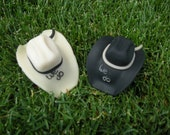 Cowboy/Cowgirl Hat wedding cake toppers