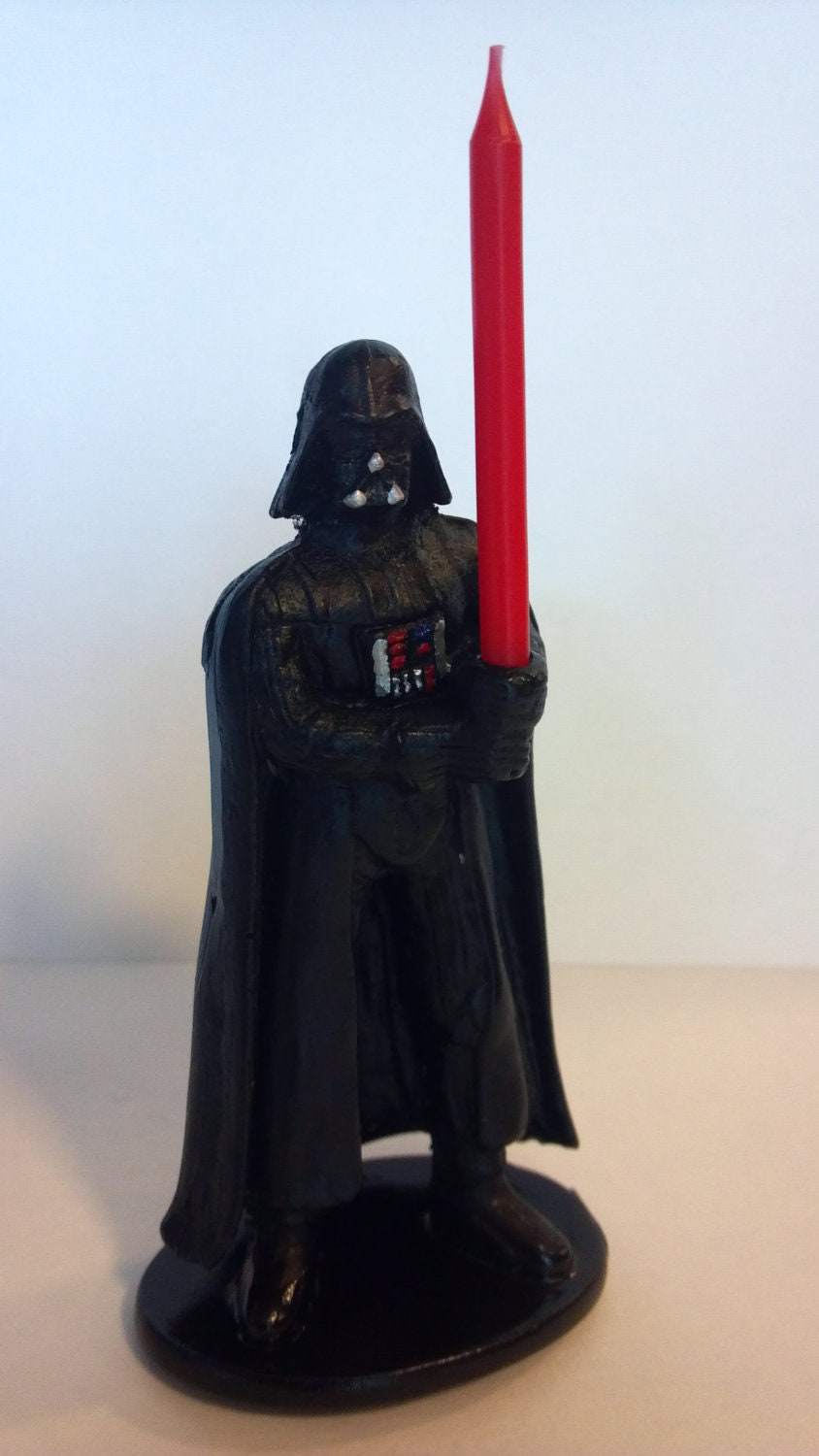 Darth Vader Cake Topper Candle Holder W Lightsaber For Your