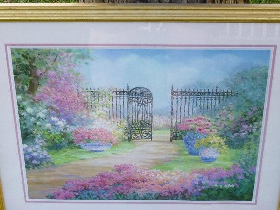 Vintage Garden Painting