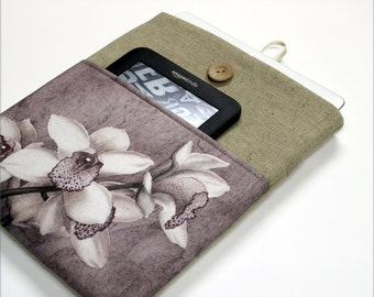 iPad Sleeve, iPad Case, iPad Cover Case, orchyds, tablet cover, Nexus 10, Galaxy Tab, Kindle Fire HD