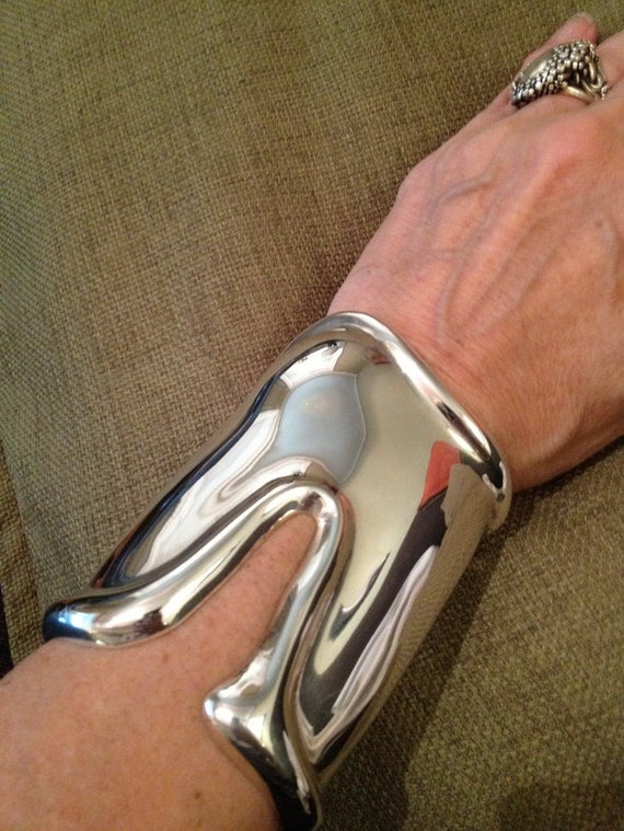 Genuine Vintage Tiffany 1975 Elsa Peretti Long Bone Cuff