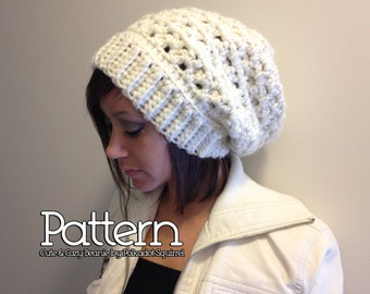 Crochet PATTERN to make a Cute & Cozy Slouchy Beanie - PDF ...
