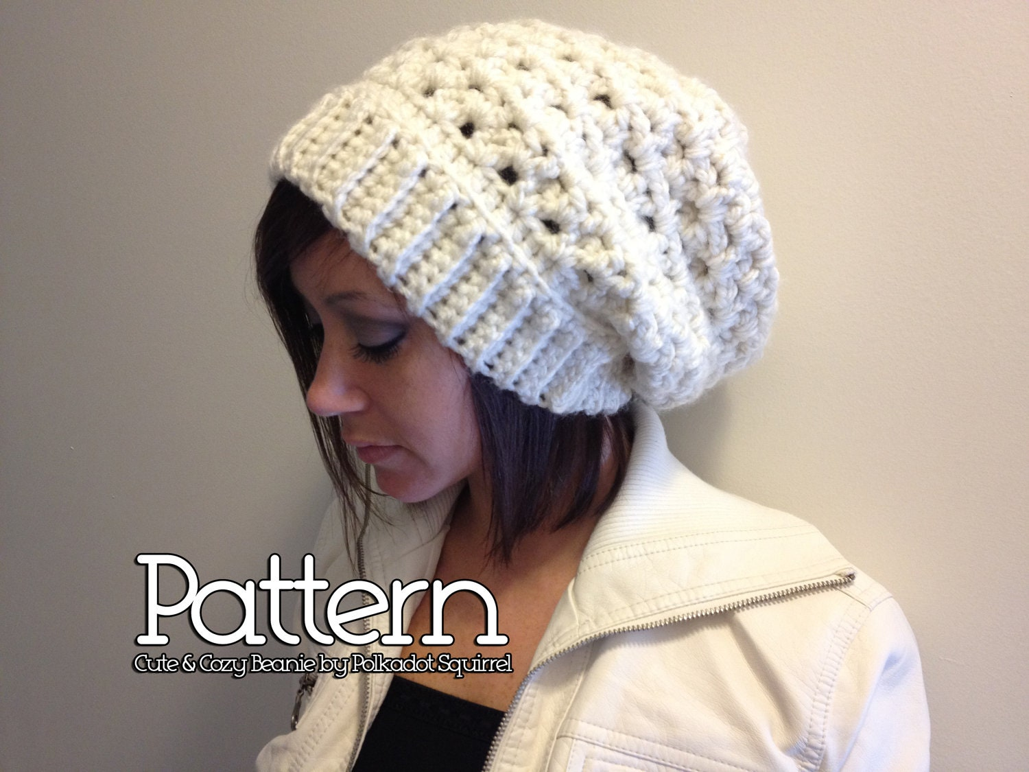 Beginner Crochet Patterns Beanie : Crochet PATTERN to make a Cute & Cozy Slouchy by ...