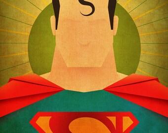 Minimal Heroes: Superman print