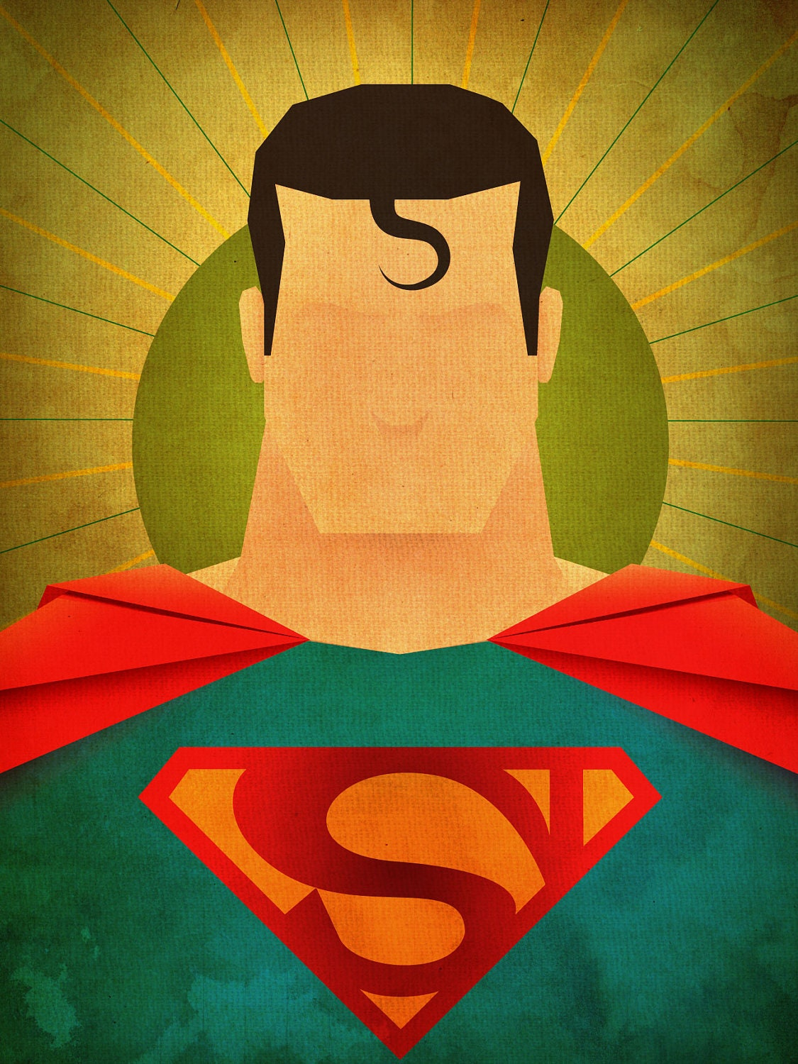 Minimal heroes superman print for Minimal art hero