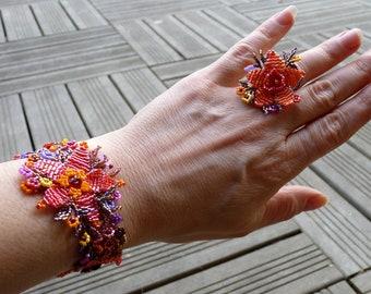 Plant fall bracelet