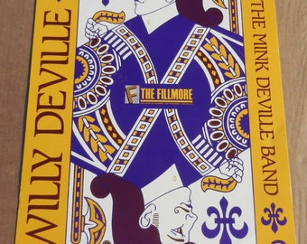 Poster of The Fillmore Willy Deville Rock Concert Poster 1989