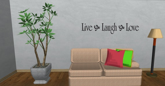 Live Laugh Love Inspirational Quote Sticker Art Bedroom Vinyl Wall Decal Home Room Decor (1)