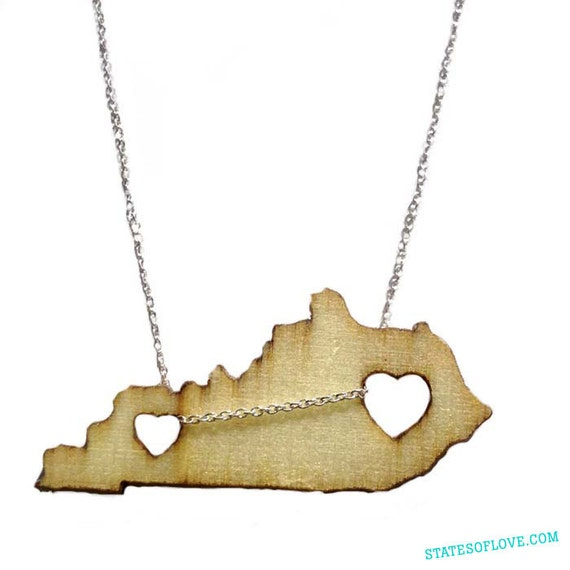 kentucky necklace by statesoflove on etsy