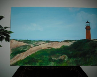 Lighthouse at Gay Head on The Island of Martha's Vineyard - Aquinnah Lighthouse