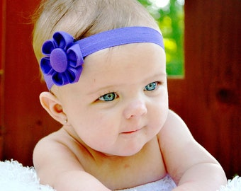 Baby Headband.Baby Flower Headband.Baby Girl Headbands.Kanzashi Flower Headband.Flower Headband.Newborn Headband - Available in 18 Colors
