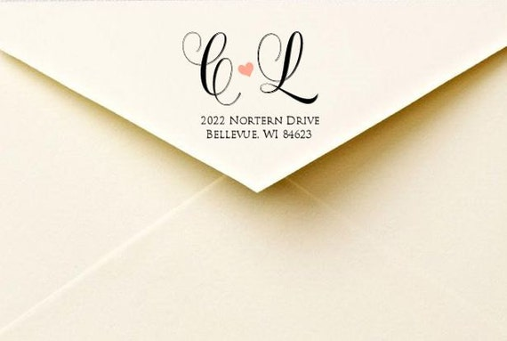 Items Similar To Calligraphy Return Address Labels