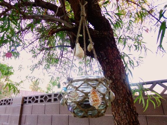 Sea Shell Hanging candle holder