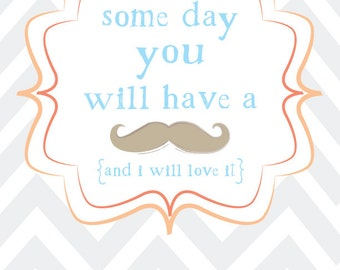 Grow a Mustache graphic print