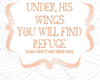 Under His Wings graphic print