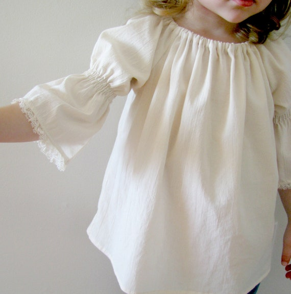 Little Girl Peasant Blouse 90