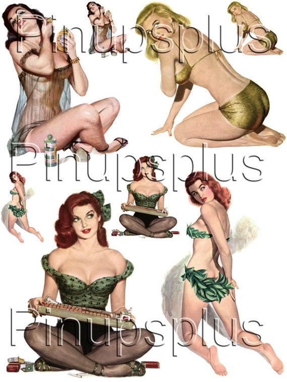 Vintage Pinup Girl WWII Noseart Waterslide Decals 4