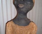 Black Folk Art Doll