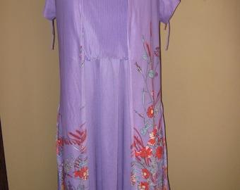 1960's Vintage 2-piece Purple Dress