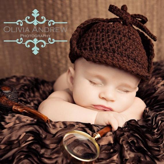 PATTERN Sherlock Holmes Hat - Crochet