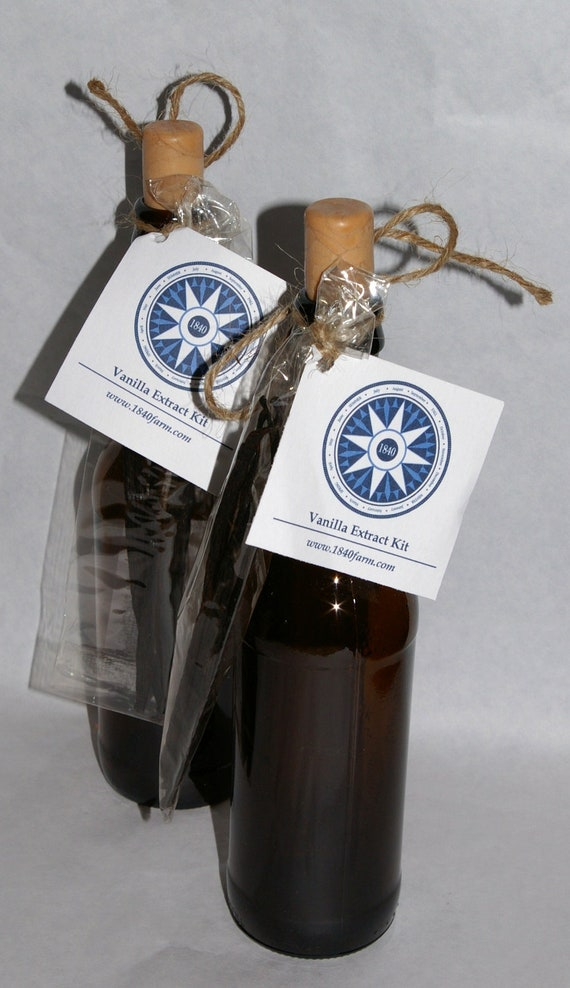 Pair of Homemade Vanilla Extract Kits