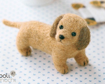 Miniature Dachshund Needle Felting Kit