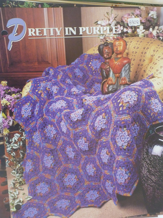 Annies Crochet : ... Pretty in Purple Afghan - Annies Crochet & Afghan club : B308 on...
