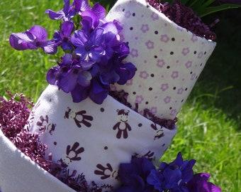Hippo Diaper Cake (purple)