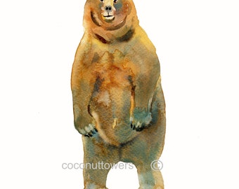 Bear,  Bear Painting, Watercolor Painting,  Bear Print