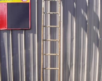 """Antique Wood Ladder with 9 Rungs - 107"""" long - Choose a Vintage Surface or Pick a Color"""