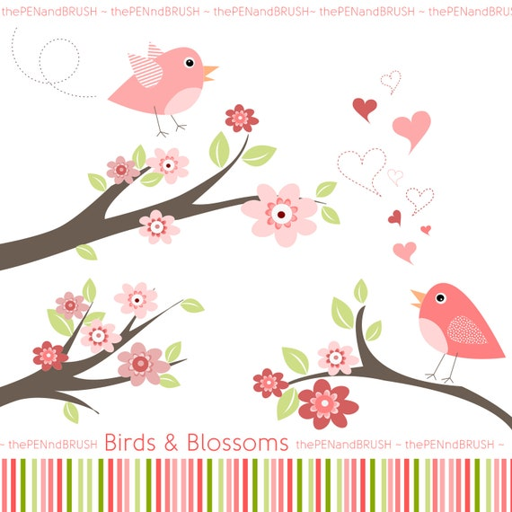 clipart flowers and birds - photo #33