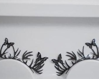 Beautiful Butterfly&Deer Paper Eyelashes