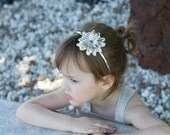 Gold And Silver, Gold And Silver Floral Headband, Gold And Silver Headband, Shiny Headband, Holiday Headband, Girls Headband