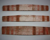 Upcycled, Vintage, Authentic, Whiskey / Wine Barrel Staves as Wall Hung Art / Decor - Sold Individually