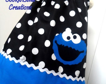 Cookie Monster Sesame Street Pillowcase Dress