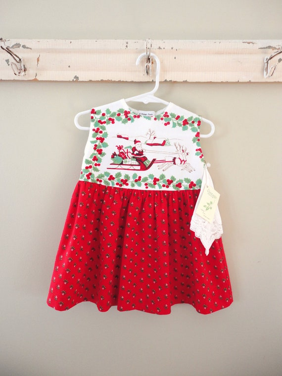 Baby girls christmas dress from vintage by whenwewereyoungbyml