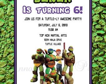 Ninja Turtle Invitation Wording Futureclim Info