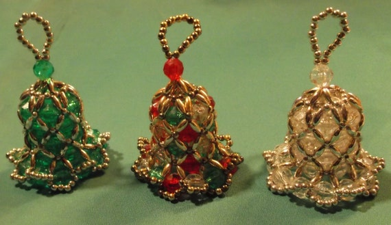 vintage beaded bell ornaments