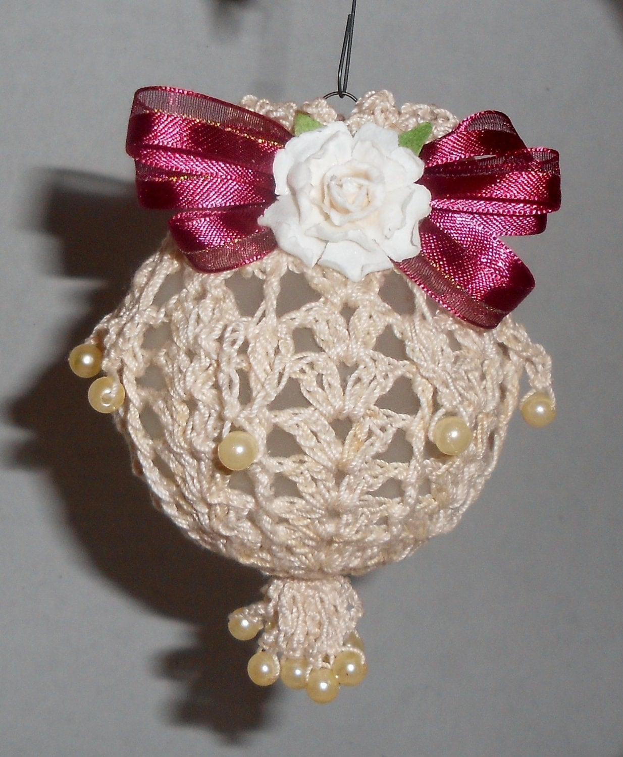 Christmas Ornament Crochet Victorian inspired