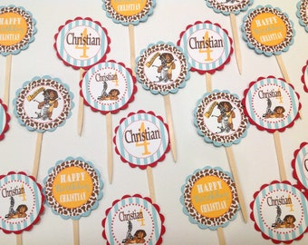 12- Happy Birthday Madagascar Cupcakes - Special Party Pack Available