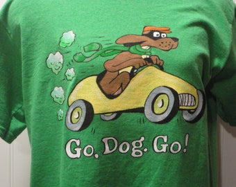 Hand painted Go Dog Go tshirt with free shipping