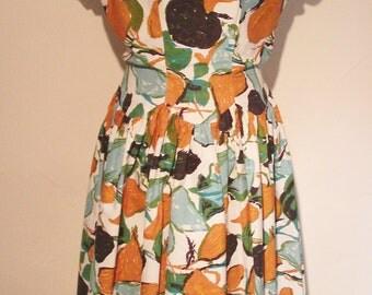 1950s Crisp cotton day dress
