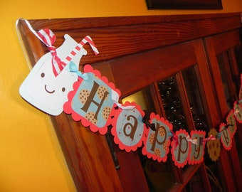 Milk and Cookies Birthday Banner - Baby Shower Banner